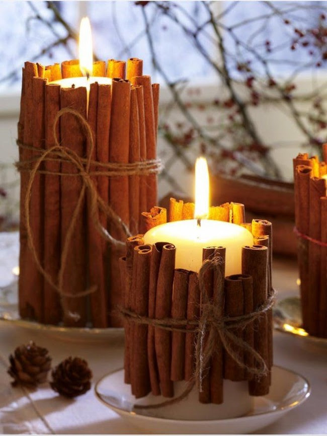 Christmas Winter Candle Decor11