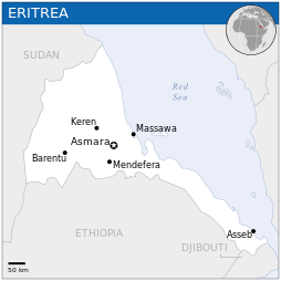 Eritrea, in east Africa. (OCHA)