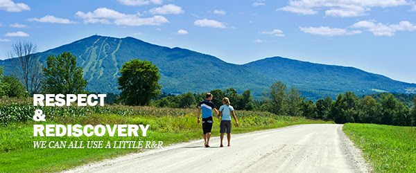 Respect & Rediscovery: We can all use a little R&R | Two People Walk on a Vermont Country Road
