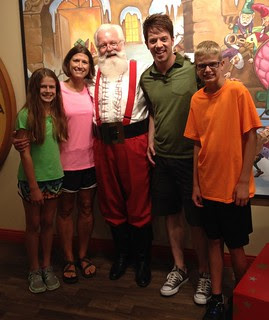 J.D. Scott, Santa and friends at Holiday World