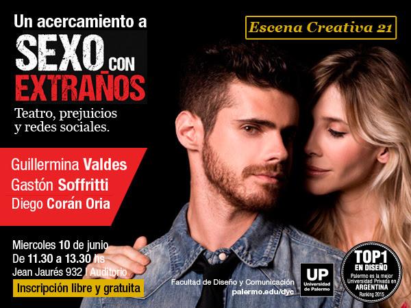 [Este miércoles] Guillermina Valdes y Gastón Soffritti. Escena Creativa 21