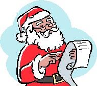 santa with list