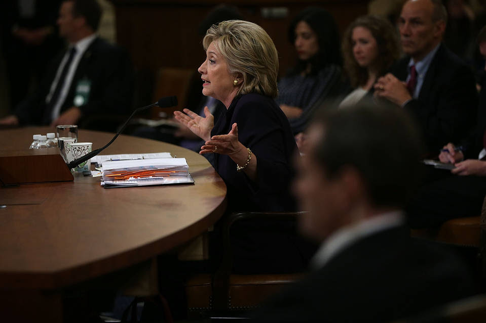 Hillary Clinton testifies before the House Select Committee on Benghazi, Oct. 22 22, 2015.