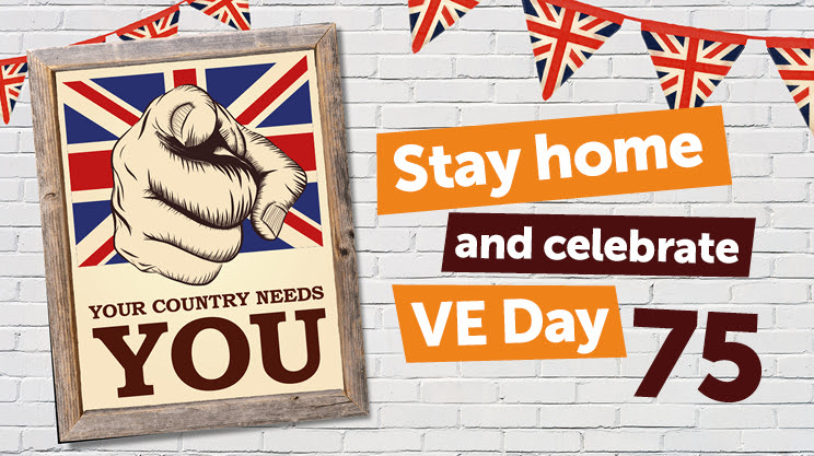 Stay home and celebrate VE Day75