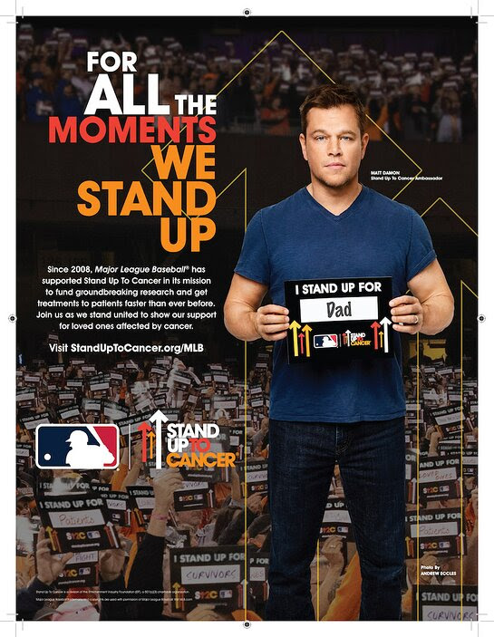 Matt Damon MLB PSA 2019