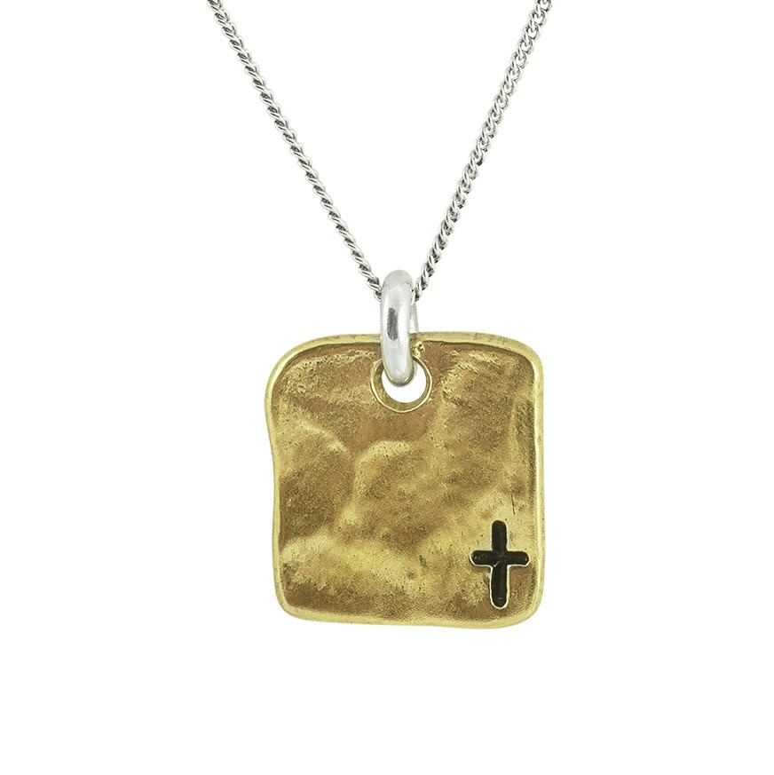 Small Cross Tag Necklace