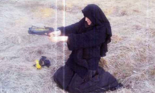 Le Monde online states that this photograph was taken of Hayat Boumeddiene in 2010.