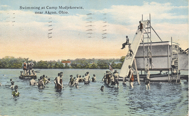 Swimming at Camp Mudjekeewis