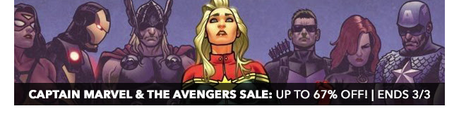 Captain Marvel & the Avengers Sale: up to 67% off! Sale ends 3/3.