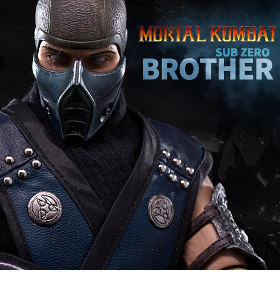 1/6 SCALE MORTAL KOMBAT SUB-ZERO BROTHER FIGURE