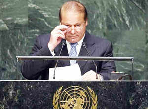 Nawaz Sharif raises Kashmir issue at UN general assembly
