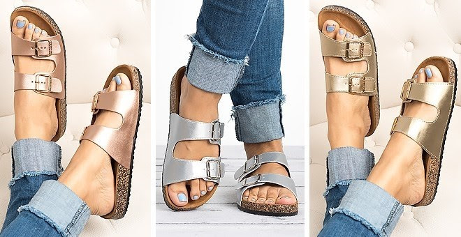 Double Buckle Sandals | 6 Colors