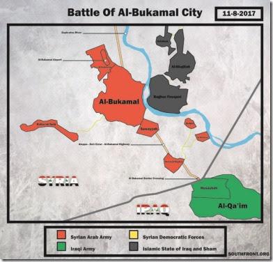 Al Bukamal - Militaire situatie - 3 - 8 november 2017