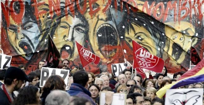 Manifestaciones de 2003 contra la guerra de Irak. AFP/Javier SORIANO