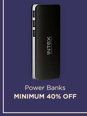 Power Banks at Min. 40% Off