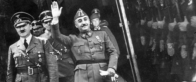 Hitler y Franco durante su encuentro en Hendaya.