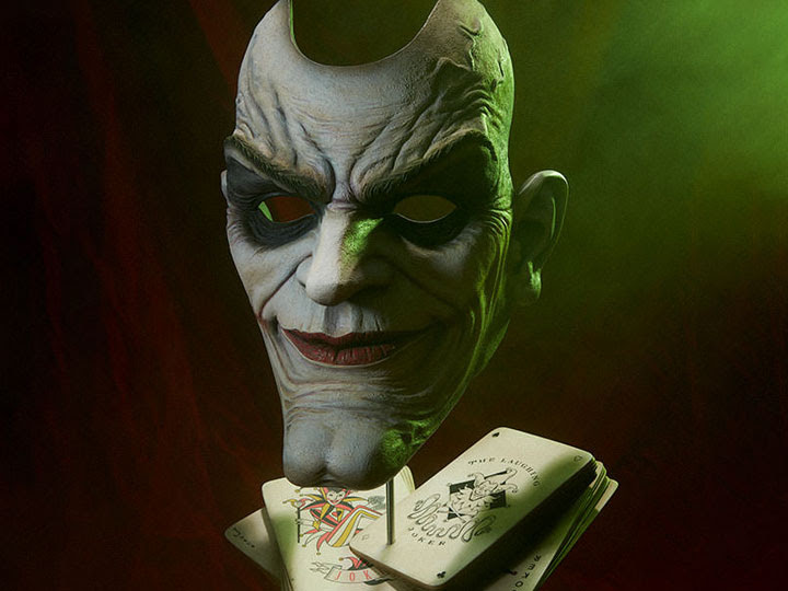 JOKER FACE OF INSANITY BUST
