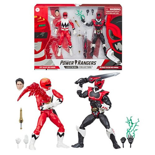 Image of Power Rangers Lightning Collection Psycho Red Ranger and Lost Galaxy Red Ranger 2-Pack