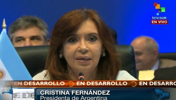 Cristina Fernández en la Cumbre de los Pueblos