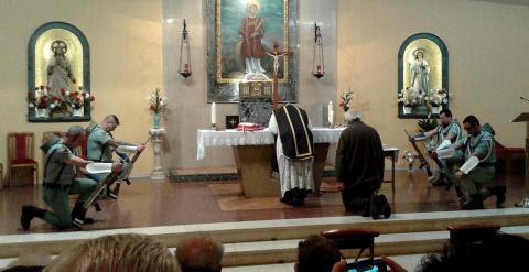 Una imagen de la misa celebrada el año pasado.