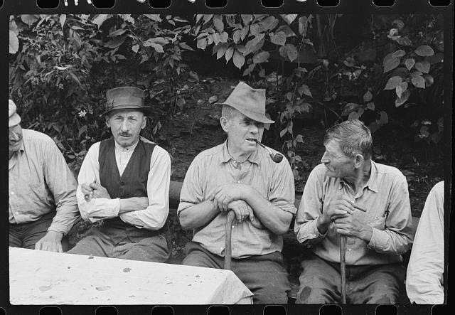 Bohemian coal miners, now unemployed, since mechanization of mines, Jere, Scotts Run, West Virginia