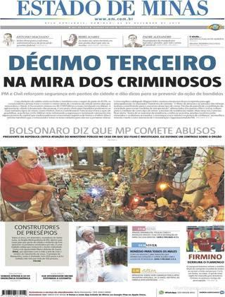 Capa Estado de Minas