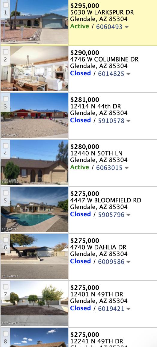 4902 W Windrose Drive, Glendale, AZ 85304 comparable sales