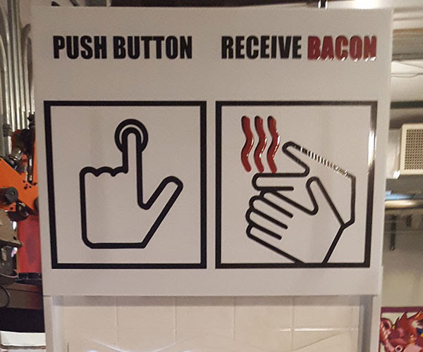 Push Button for Bacon