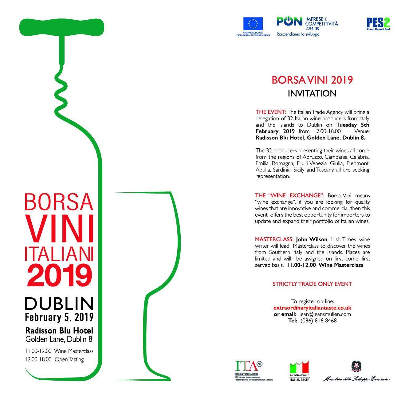2019 Borsa Vini Tues 5th Feb 2019  1363151808e