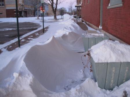 Snow Drifts on Main Street