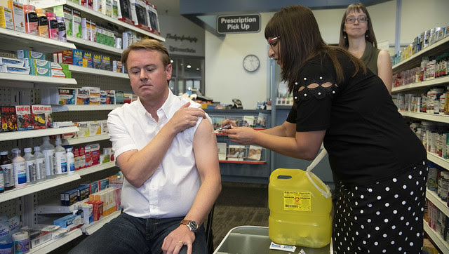 Flu shots available in Alberta this month