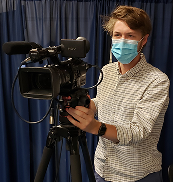 Shooting a video deposition during the covid pandemic