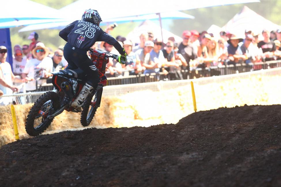 McElrath's first career moto win carried him to second overall.