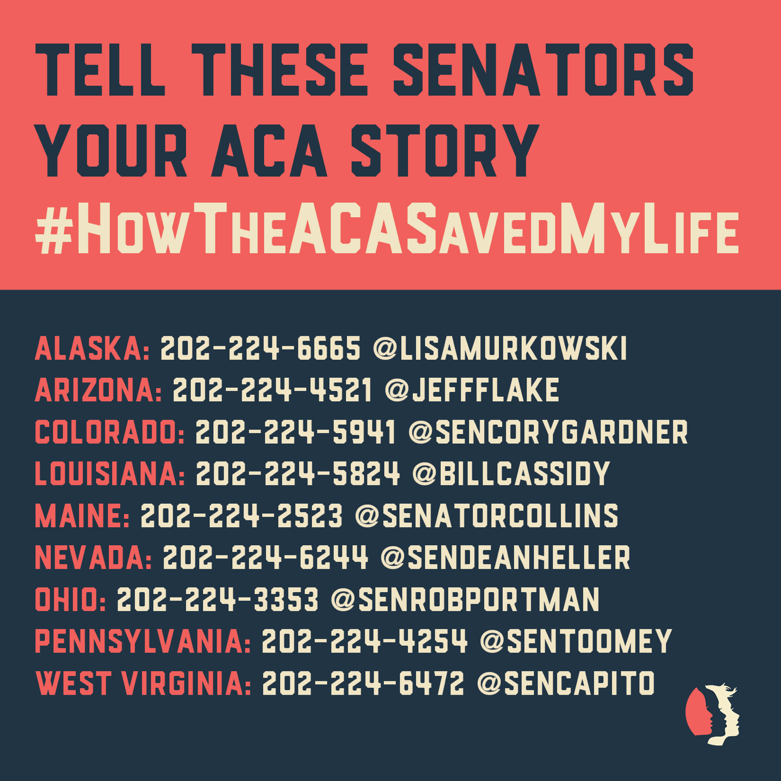 Tell these senators your ACA story #HowTheACASavedMyLife