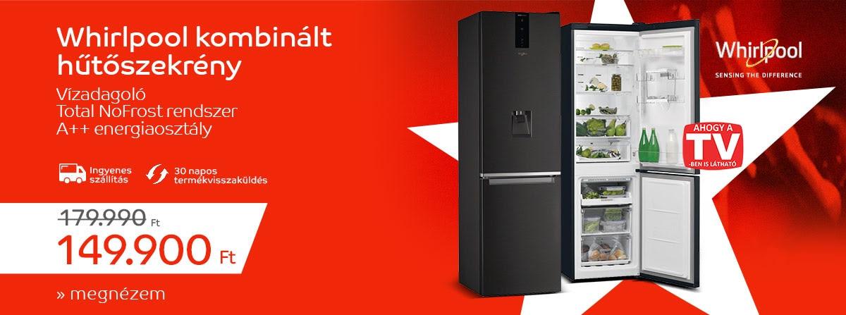 Árak forradalma - Whirlpool W7 921O K AQUA Kombinált hűtőszekrény
