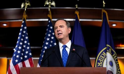 Chủ tịch Ủy ban Tình báo Hạ viện Adam Schiff phát biểu trước Quốc hội Mỹ hôm 25/9. Ảnh: Reuters.