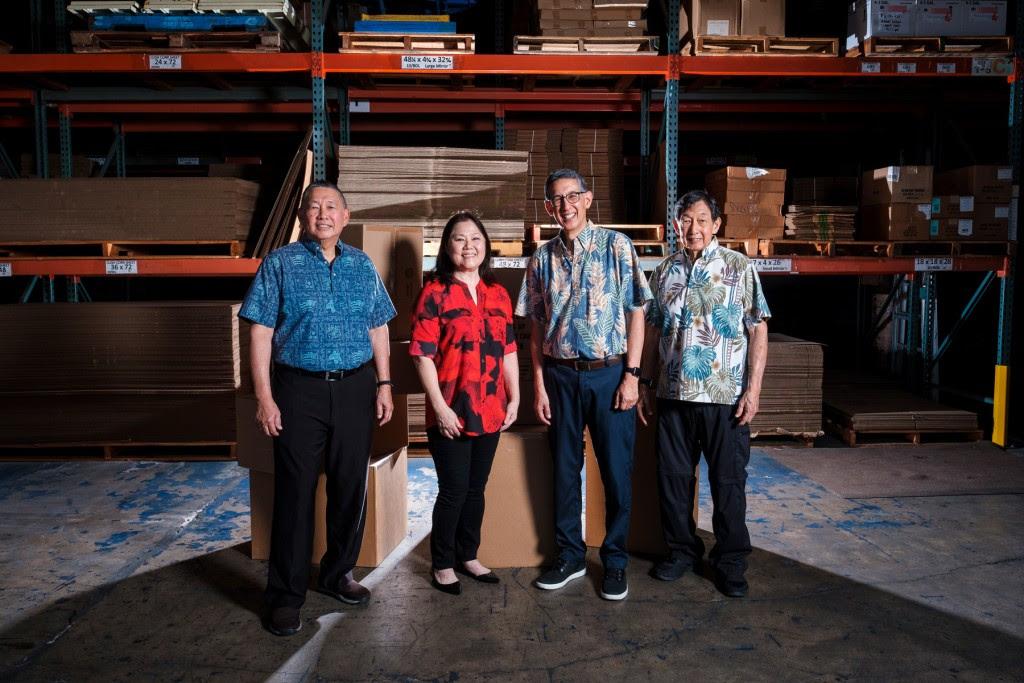 Left to right: Lester, Nannette, Walton and Sanford Chu. | Photo: Aaron Yoshino