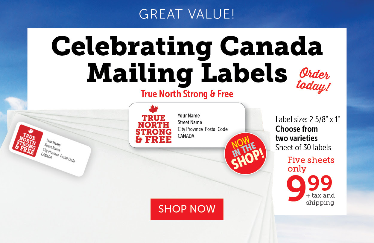 Celebrating Canada Mailing Labels