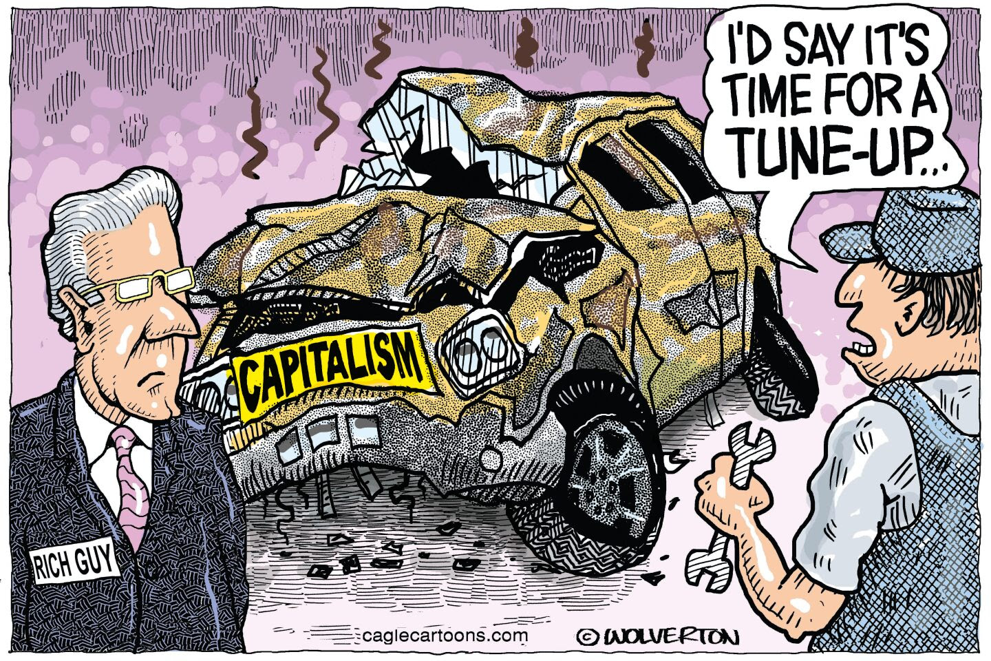 Capitalism is out of control when only billionaires thrive and other Americans struggle to make a living.