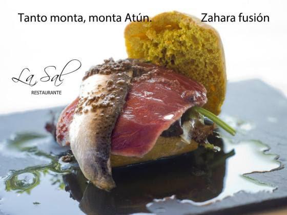 """1º Premio """"Tanto monta, monta atún Zahara Fusión"""" Rest la Sal"""