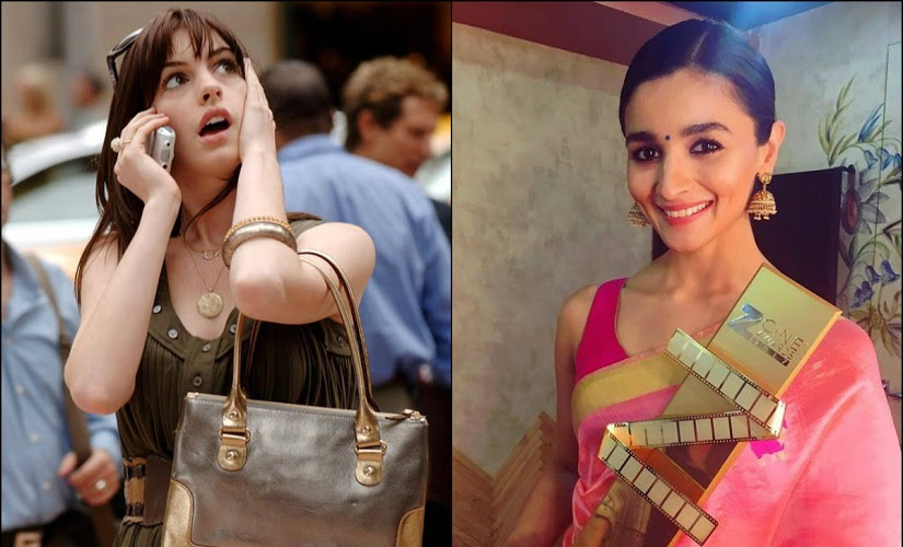 Anne Hathaway and Alia Bhatt. Images from Facebook
