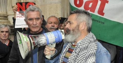 Diego Cañamero y Juan Manuel Sánchez Gordillo, en una imagen de archivo. EFE