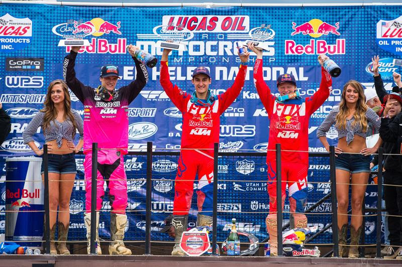 KTM swept the overall podium for the first time.Photo: Simon Cudby