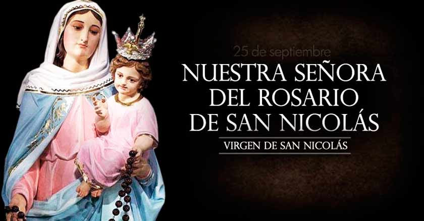 nuestra senora del rosario de san nicolas virgen de san nicolas virgen maria