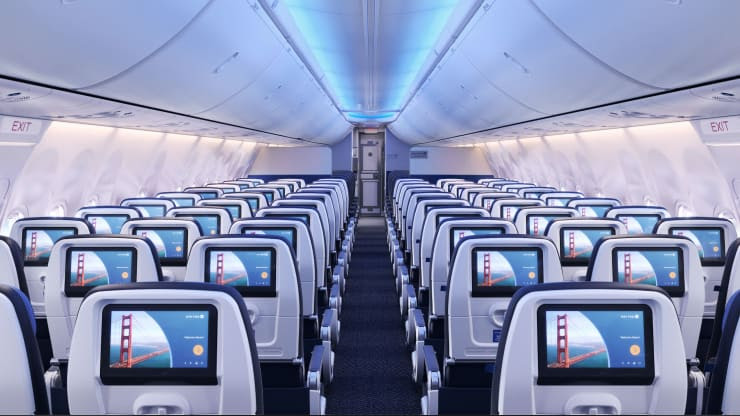 A glimpse of United's new jetliners