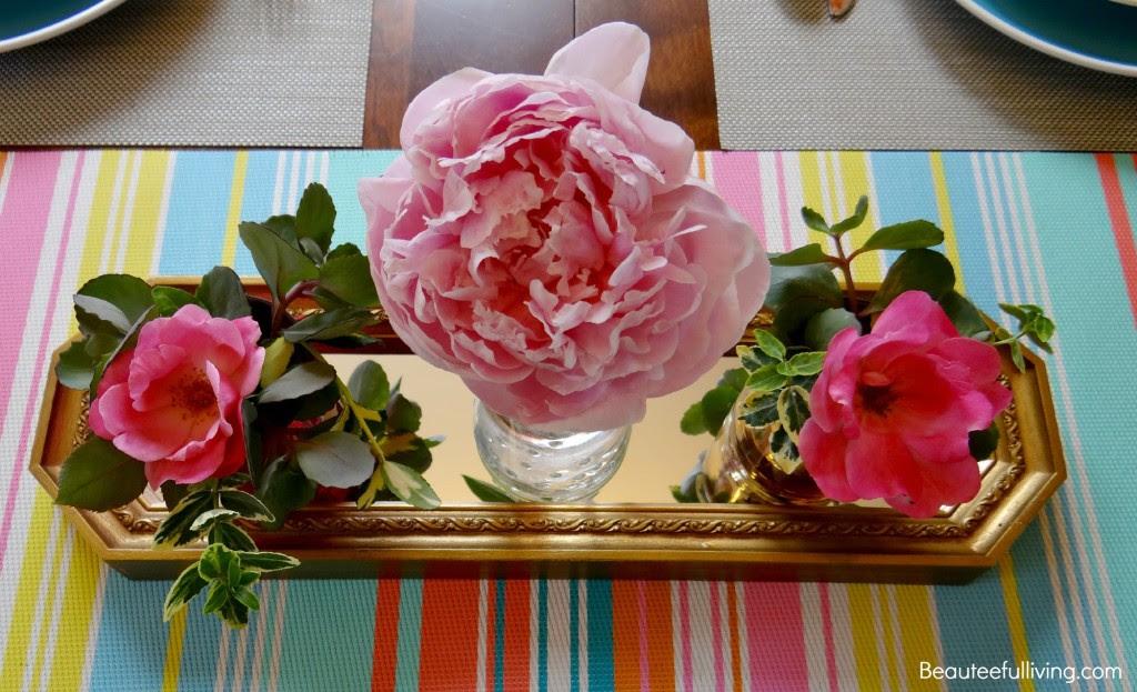 Summer Entertaining floral centerpiece - Beauteeful Living