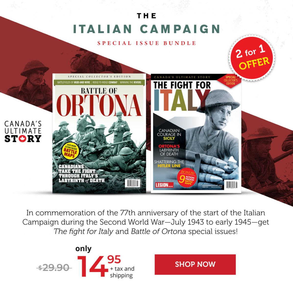 The Italian Campaign Special Issue Bundle