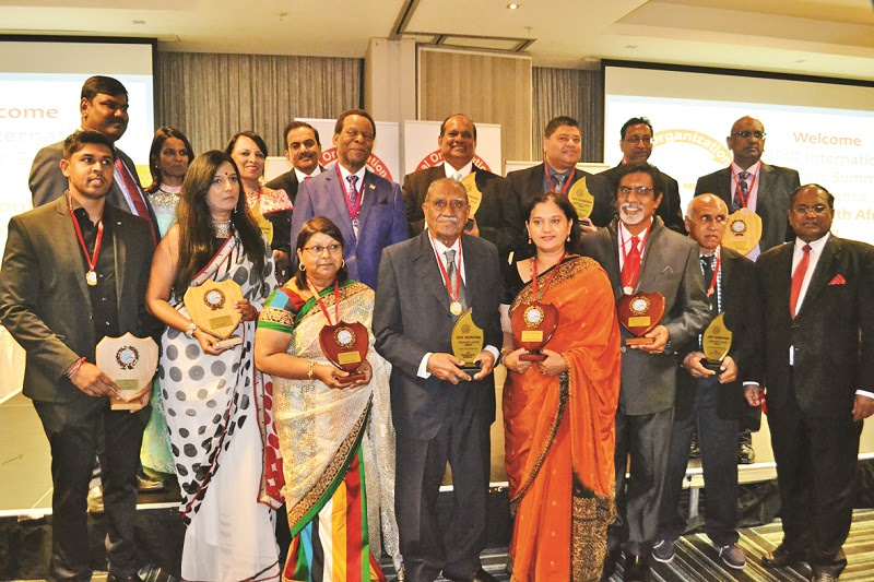 GOPIO Convention Awardees at the Durban Business Summit, May 20, 2017