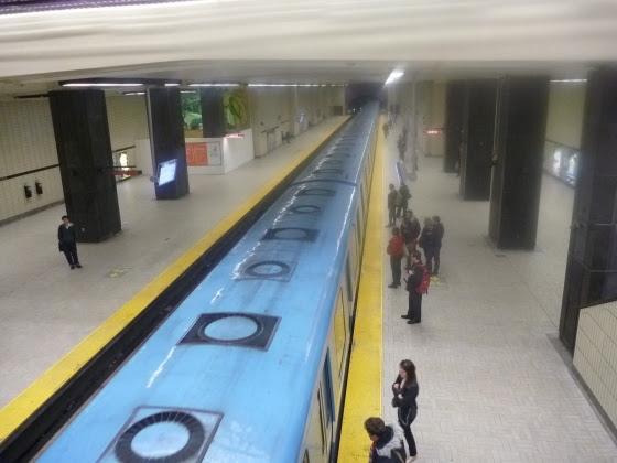 The underground Metro in Montreal.