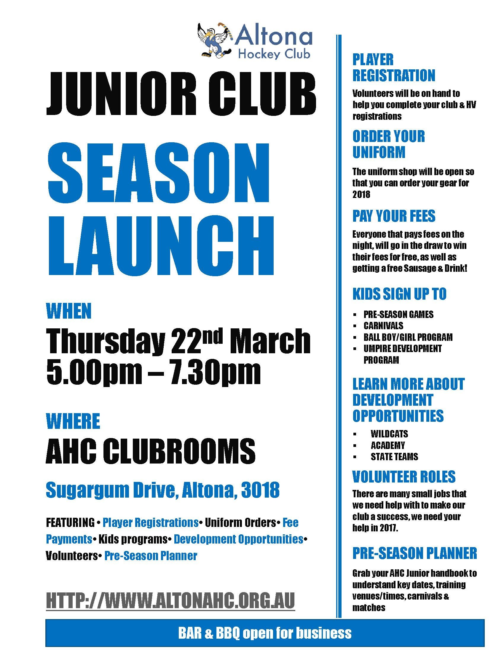 2018 Junior Season Launch